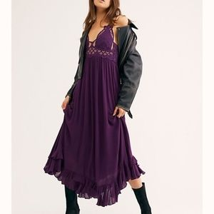 Free People One Adella Maxi Slip Dress Purple/Plum
